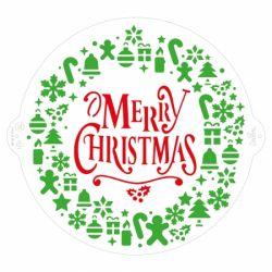 Decora Stencil Christmas Wreath