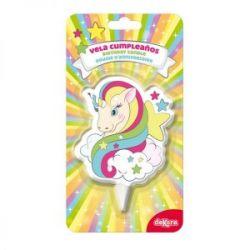 Vela Cumpleanos Birthday Candle Unicorn