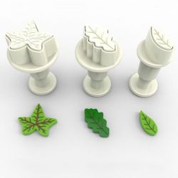 Dekofee Mini Plunger Leaves set/3