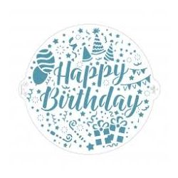 Decora Stencil Happy Birthday