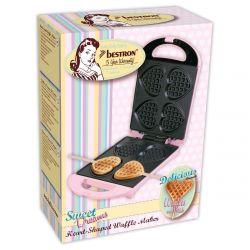 Bestron Sweet Dreams Heart Shaped Waffle On A Stick Maker