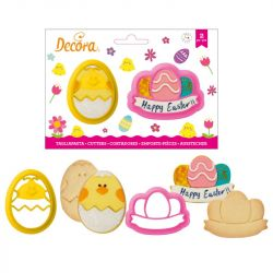 Decora Plastic Cookie Cutters Chicken & Egg