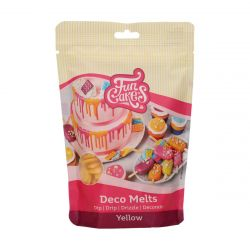 Funcakes Deco Melts Geel 250gr