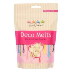 Funcakes Deco Melts Wit 250 gram