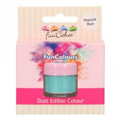 Funcakes Funcolours Dust Edible Colour Peacock Blue