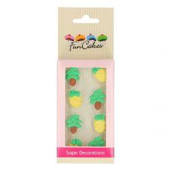 Funcakes Suikerdecoratie Ananas & Palmboom pk/8