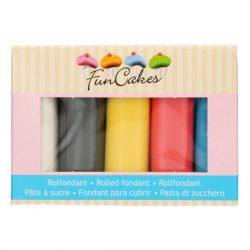 Funcakes Rolled Fondant Multipack Primary Colours 5x100gr