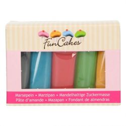 Funcakes Marsepein Multipack Essential Colours 5x100gr
