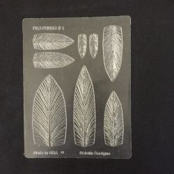 Gelatin Veining Sheet Feather #1