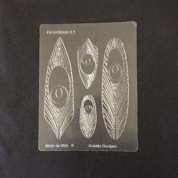 Gelatin Veining Sheet Feather #2