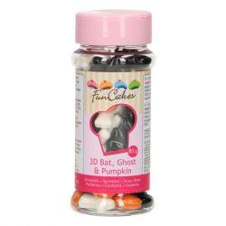 FunCakes 3D Sprinkles Vleermuis-Spook-Pompoen