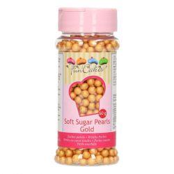 Funcakes Soft Sugar Pearls gold