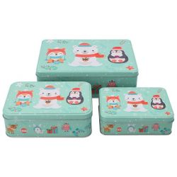 Birkmann Cake Tin Set Christmas Animals