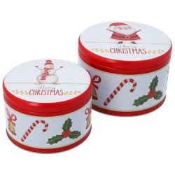 Birkmann Cake Tin Set Merry Christmas L