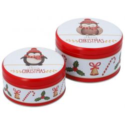 Birkmann Cake Tin Set Merry Christmas S