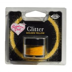Rainbow Dust Edible Glitter Golden Yellow 5gr