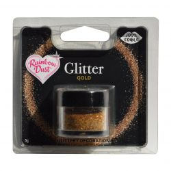 Rainbow Dust Edible Glitter Gold 5gr