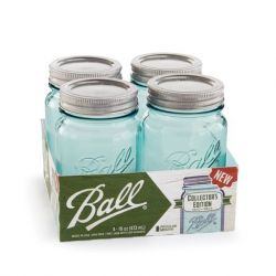 Ball Jars Aqua Vintage Collector's Edition 473ml pk/4