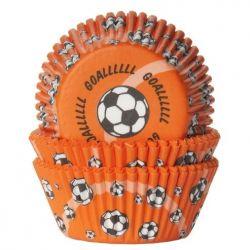 House Of Marie Baking Cups Orange Goal pk/50
