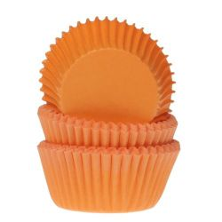 House Of Marie Baking Cups Mini Orange 60/st