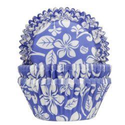 HOM Baking Cups Aloha Bloem Blauw