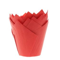 House Of Marie Tullip Muffin Cups Red