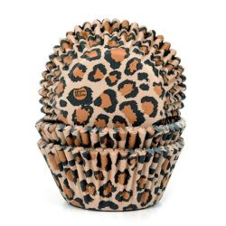 House of Marie Baking Cups Leopard pk/50
