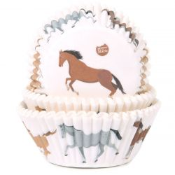 House of Marie Baking Cups  Horse pk/50