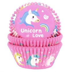 House of Marie Baking Cups Unicorn Love pk/50