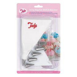 Tala Icing Bag 6 S/S Nozzles Scraper & Brush