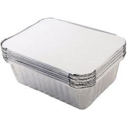 Tala Foil Container 20X11X5.3Cm Pk10 W.Lids