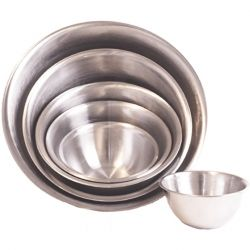 Chef Aid S/S Bowl 257mm Bk Aprox 2.4l
