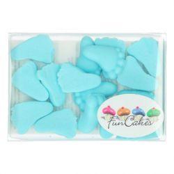 FunCakes Babyvoetjes blauw 16st