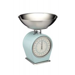 mechanical kitchen scales blue