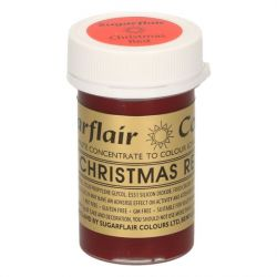 Sugarflair paste colour Christmas Red
