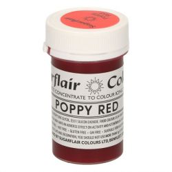 Sugarflair paste colour poppy red