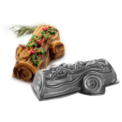 Yule log cake pan