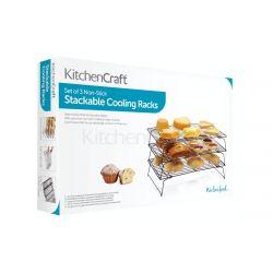 KitchenCraft Stackable Cooling Racks set/3