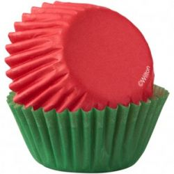 Wilton Baking Cups Mini Red & Green PK/100