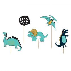 PartyDeco Cake Topper Dinosaur Party