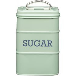 Living Nostalgia Sugar Tin Steel green