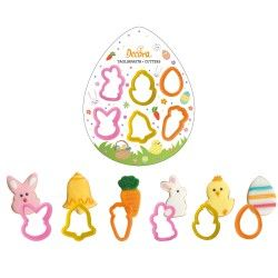Decora Plastic Cookie Cutters Easter