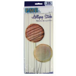 PME Lollipop Sticks - 20cm - PK/25
