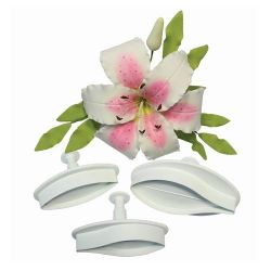 PME Veined Lilly Plunger Cutter Set/2