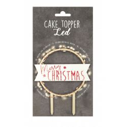 Scrap Cooking Cake Topper Merry Christmas LED