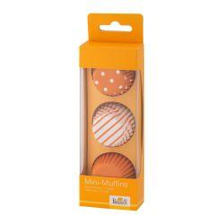 Birkmann Mini Papieren Muffin Vormpjes Oranje 3cm