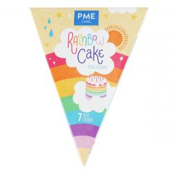 PME Rainbow Cake Food Colours set/7