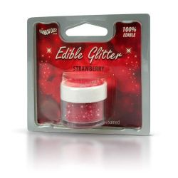 Rainbow Dust Edible Glitter Strawberry 5gr