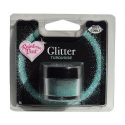 Rainbow Dust Edible Glitter Turquoise 5gr