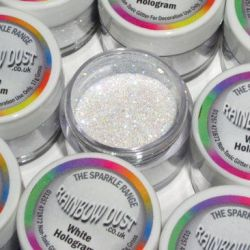 RD Decorative Sparkles Hologram White